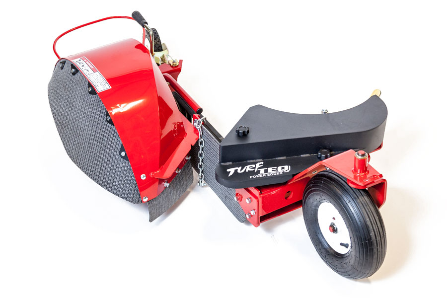 Turf Teq Power Edger With Bed Opening Blade Attachment Is